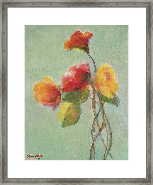 Floral Painting Framed Print