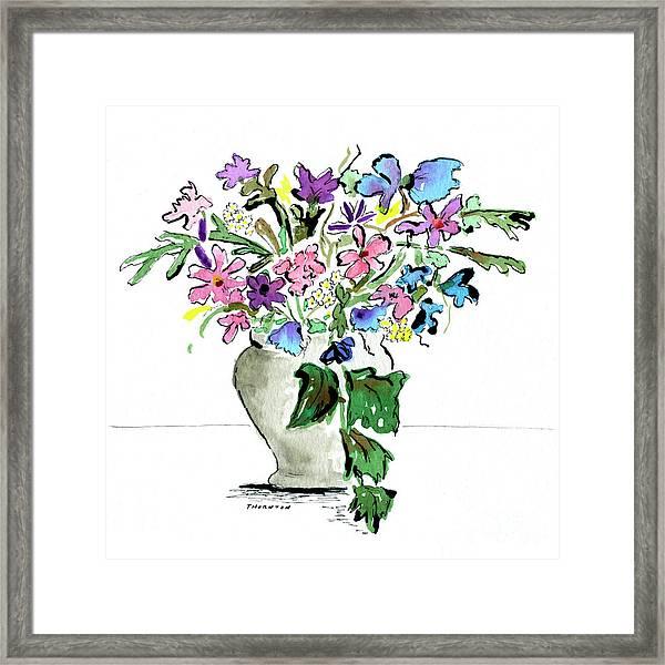 Floral Vase Framed Print
