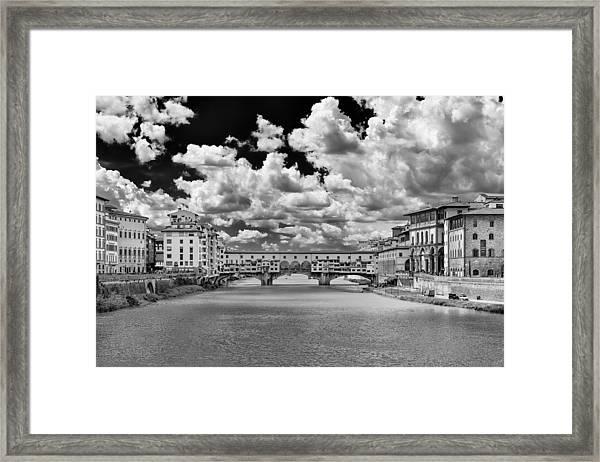 Florence Old Bridge Framed Print