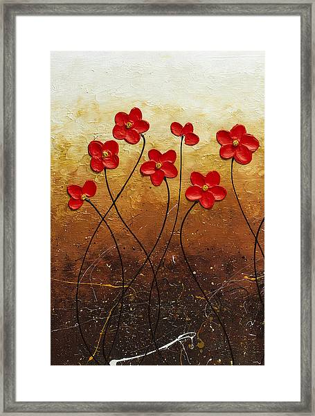 Flores De Mi Jardin 1 Framed Print