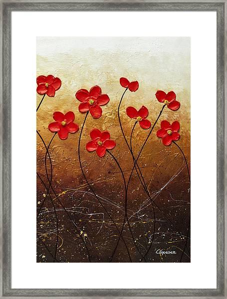 Flores De Mi Jardin 3 Framed Print