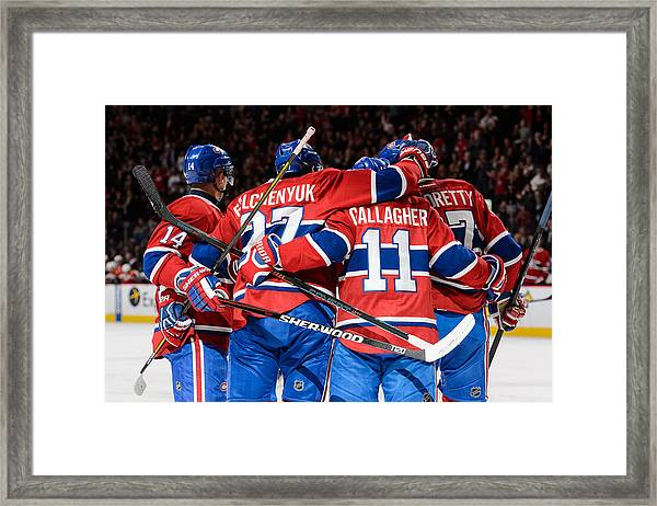 Florida Panthers V Montreal Canadiens Framed Print by Minas Panagiotakis