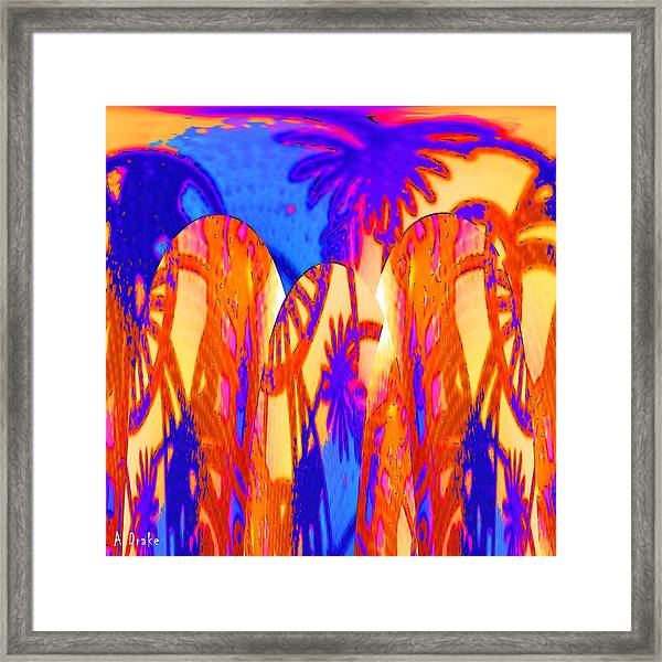 Florida Splash Abstract Framed Print