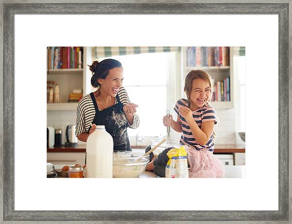 Flour And Fun Make For Some Delicious Food! Framed Print by PeopleImages