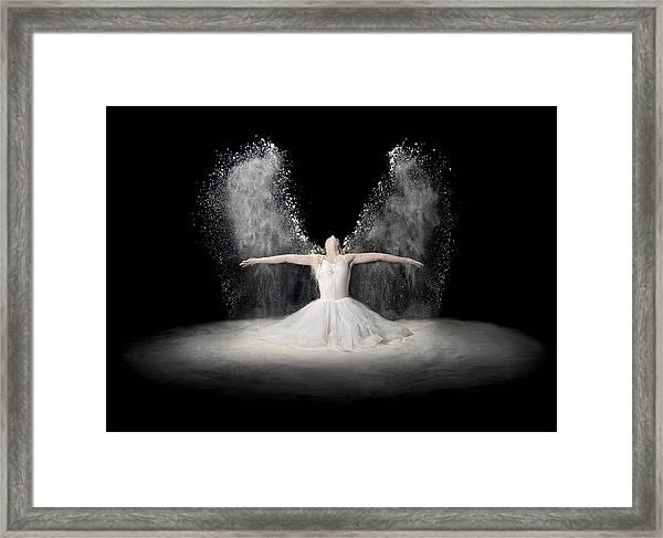 Flour Wings Framed Print