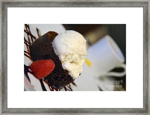 Flourless Chocolate Cake Framed Print