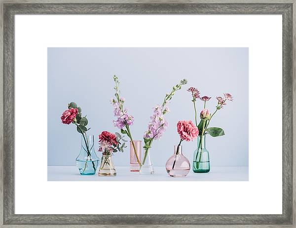 Flower Arrangement In Pastel Framed Print by Knape