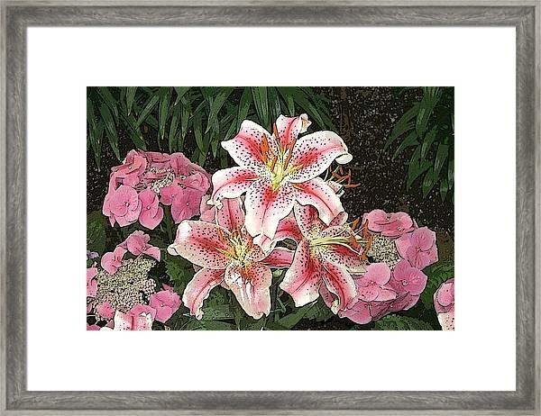 Flower Art01 Framed Print
