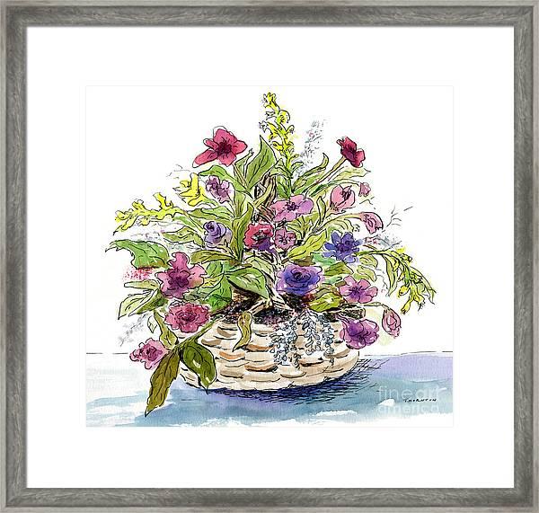 Flower Basket I Framed Print