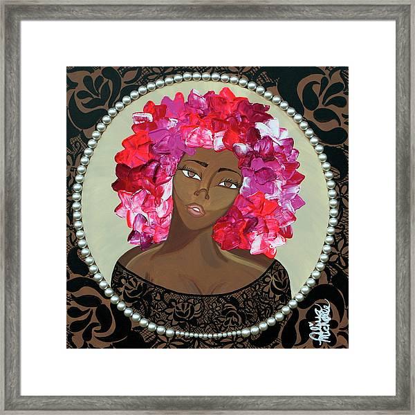 Flower Bomb Framed Print