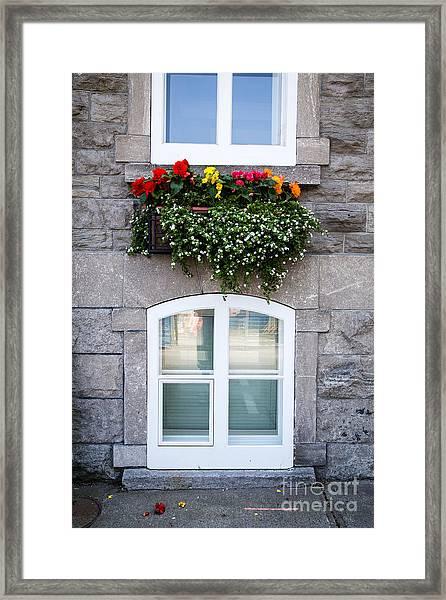 Flower Box Old Quebec City Framed Print