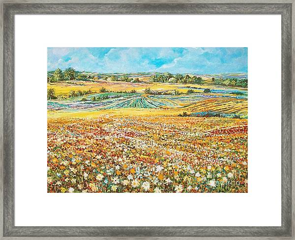 Flower Field Framed Print