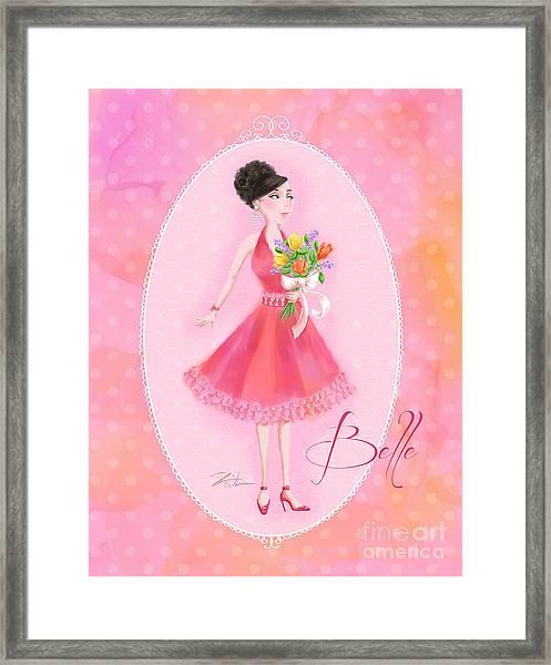 Flower Ladies-belle Framed Print