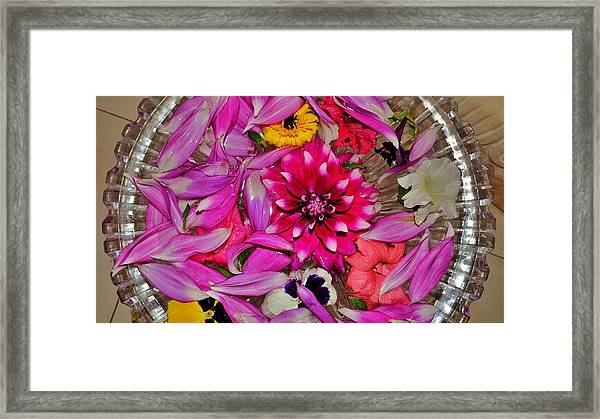 Flower Offerings - Jabalpur India Framed Print