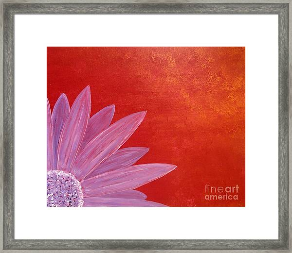 Flower On Metallic Background Framed Print