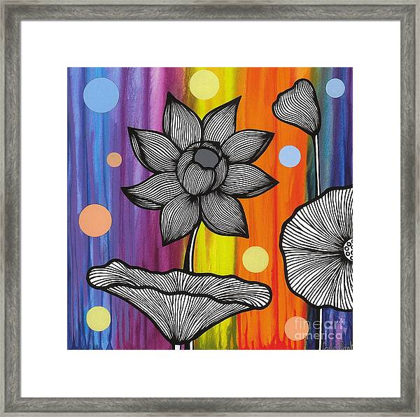 Framed Print featuring the painting Flower Power by Carla Bank
