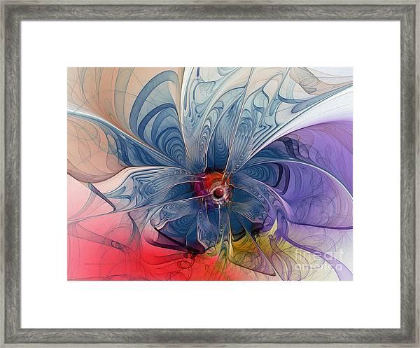 Flower Power-fractal Art Framed Print