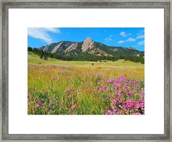 The Flatirons Colorado Framed Print