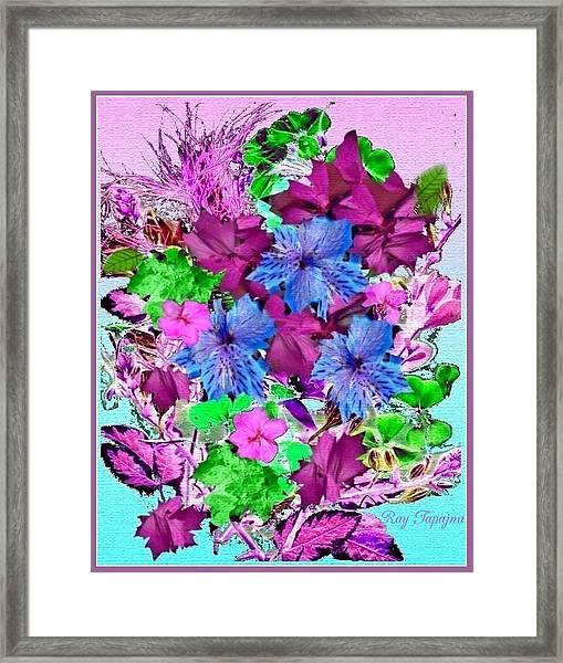 Flowers Designed Just For You Framed Print by Ray Tapajna