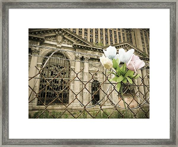 Framed Print featuring the photograph Flowers For Detroit by Priya Ghose