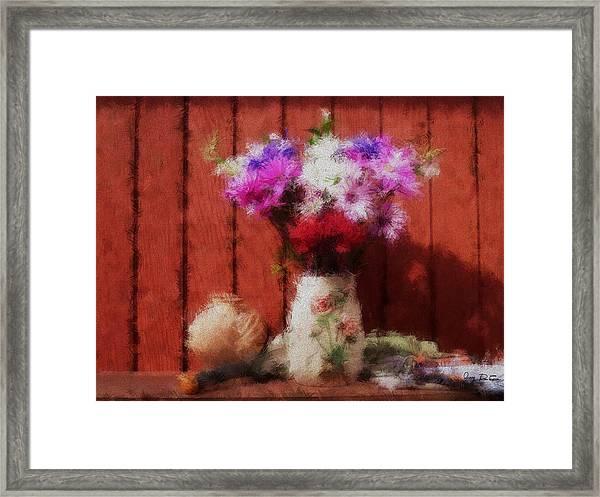 Flowers From My Garden Framed Print