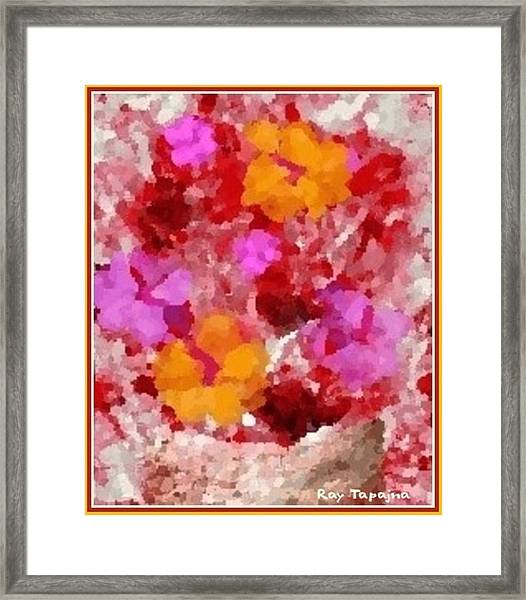 Flowers Impressions  Framed Print by Ray Tapajna