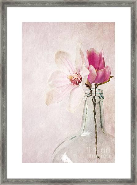 Flowers In A Bottle Framed Print