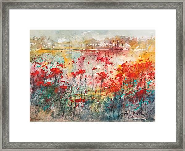 Flowers Never Worry Framed Print