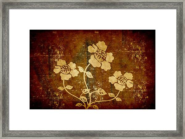 Flowers On The Wall Framed Print