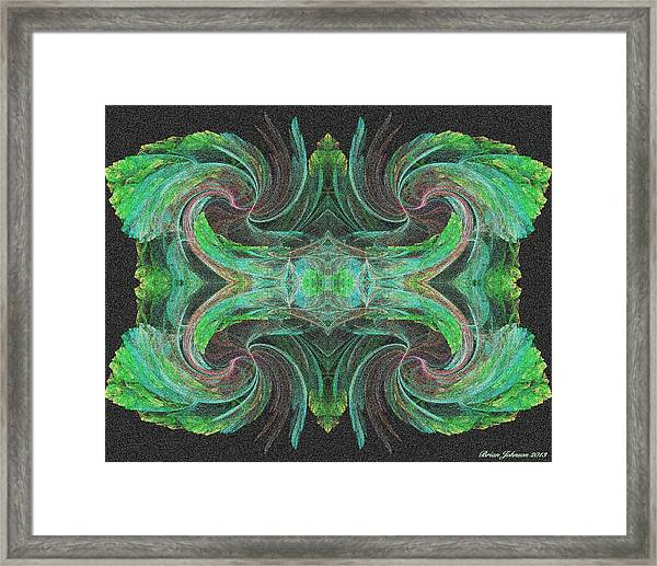 flowers on Venus Tile Framed Print