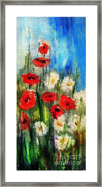Flowers - Poppy's Flower Framed Print