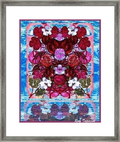 Flowers Touching Souls Framed Print by Ray Tapajna