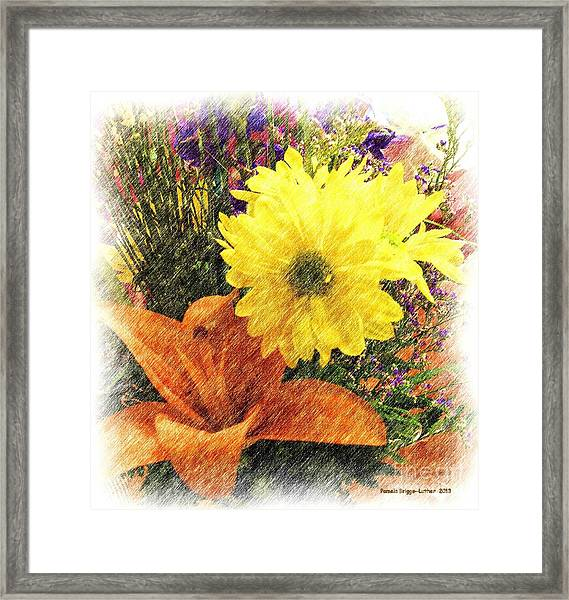 Flowers With Love Framed Print