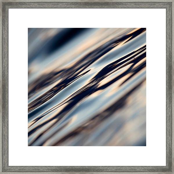 Flowing Glass Framed Print