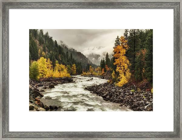 Flowing Through Autumn Framed Print