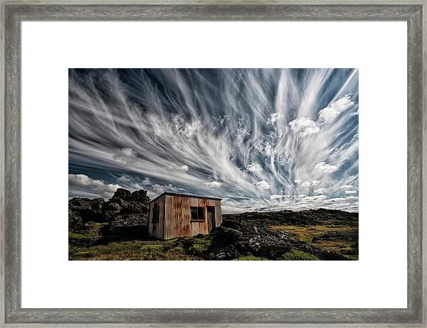 Fluffy Sky Framed Print