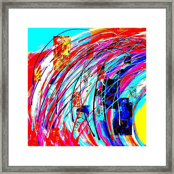 Fluid Motion Pop Art Framed Print