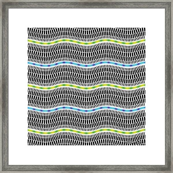 Fluorescent Waves Framed Print