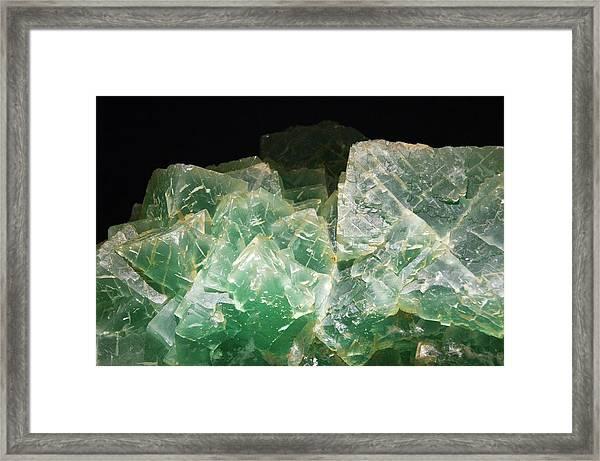 Fluorite Crystals Framed Print