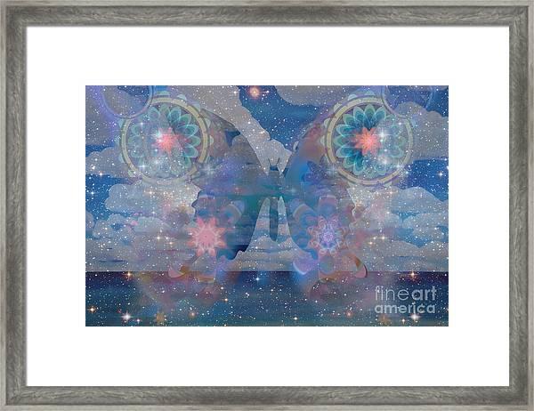 Flutterby Meditation Framed Print
