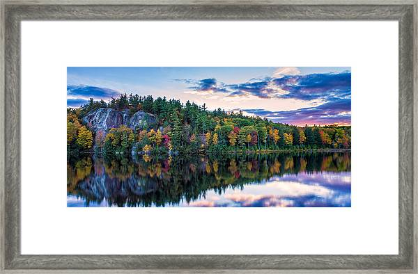 Fly Fishing At Sunset Stonehouse Pond Framed Print