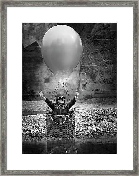 Fly Me To The Moon Framed Print by Bruno Birkhofer