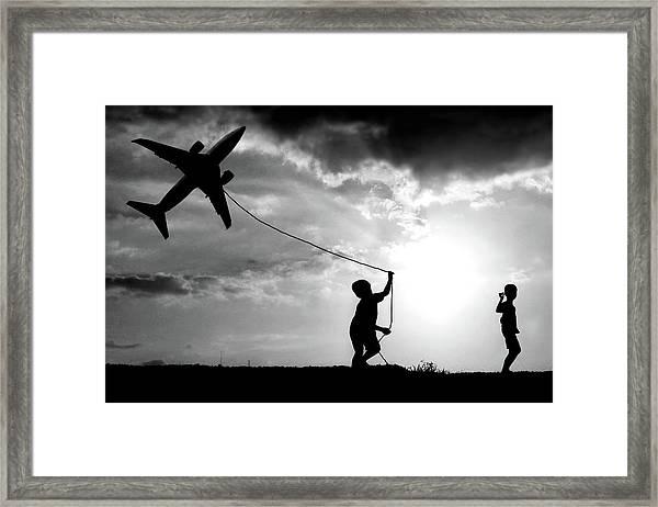 Fly My Plane Framed Print by