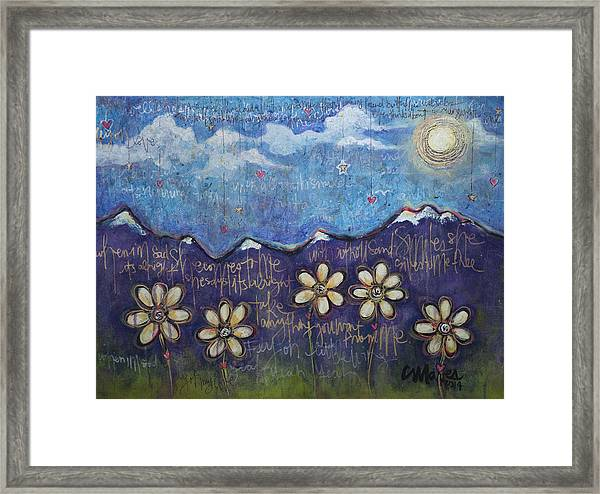 Framed Print featuring the painting Fly On My Love by Laurie Maves ART