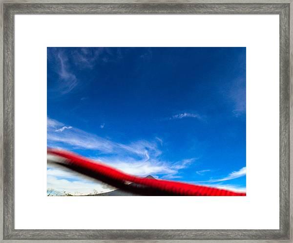 Flyby Volcano Framed Print