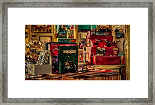 Flying A Service Station Office Framed Print