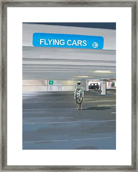 Flying Cars To The Right Framed Print