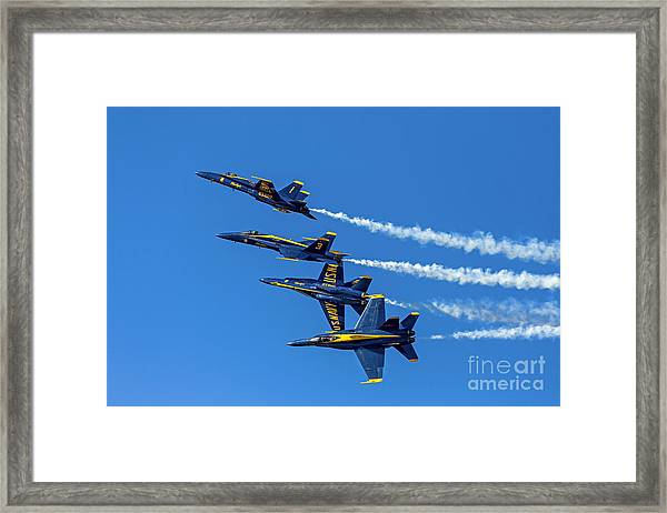 Flying Formation Framed Print