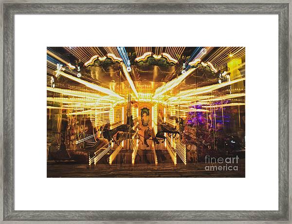 Flying Horses Carousel  Framed Print