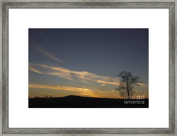 Flying Into The Yellow Sunset Framed Print